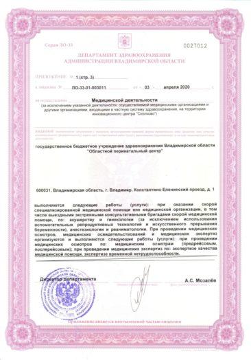 Приложение к лицензии стр 3
